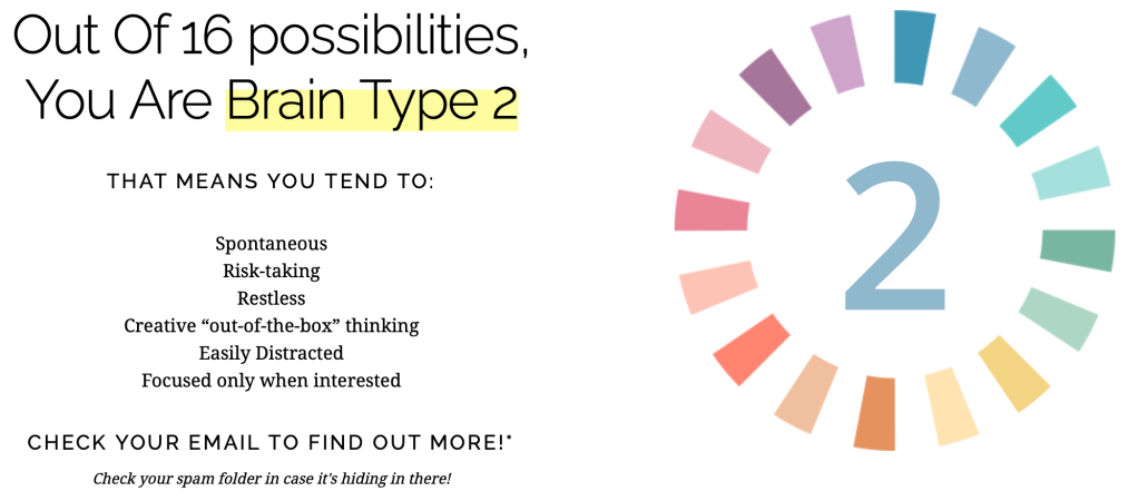 Brain Type. Brain health assessment