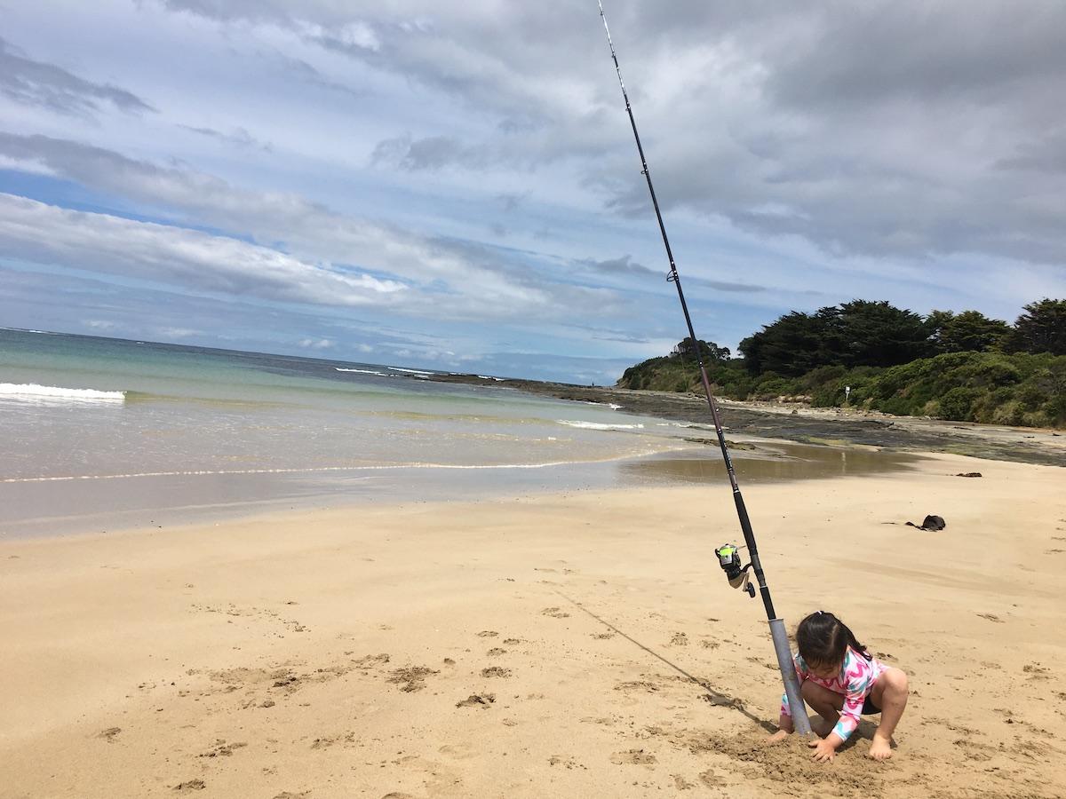 Marengo fishing Surf fishing Marengo holiday park camping Marengo beach