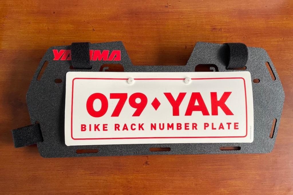 Bicycle rack number plate holder Yakima number plate holder Number plate holder Bike rack number plate holder